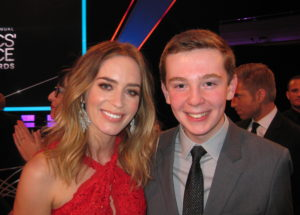 Jackson Murphy and Emily Blunt