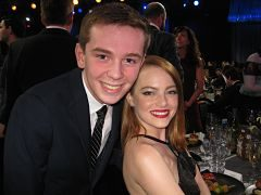 Jackson Murphy and Emma Stone