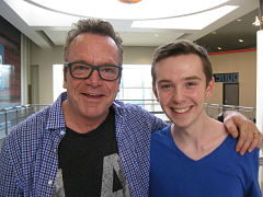 Tom Arnold and Jackson Murphy
