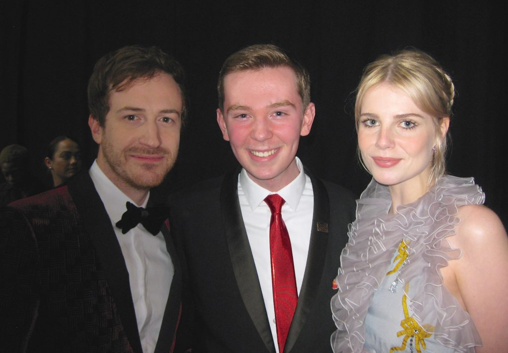 Lucy Boynton and Joseph Mazzello